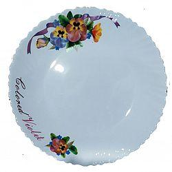 Тарелка стеклокерамика Орхидея фиолетовая Wave десертная 19см Vittora