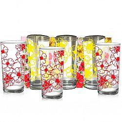 """Набір склянок 6шт * 200мл"""" Квіткове асорті """" повнокольоровий малюнок"""