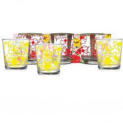 """Набір склянок 6шт * 250мл"""" Квіткове асорті """" повнокольоровий малюнок"""