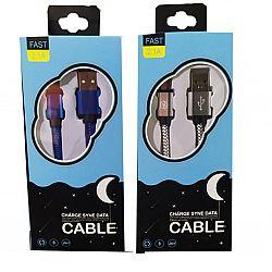 USB-шнур/зарядный кабель тканевая обмотка, в коробке