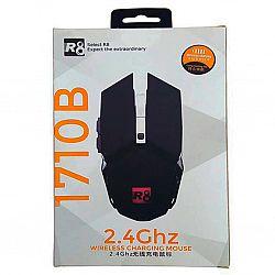 Мышка беспроводная аккумуляторная с подсветкой R8 1710B черная, гарантия 3 месяца