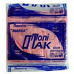 Пакет майка 22*39, 100шт/упаковка