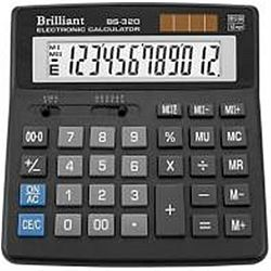 Калькулятор настольный BRILLIANT BS-320 12 разрядов 15,6*15,7*3,4см