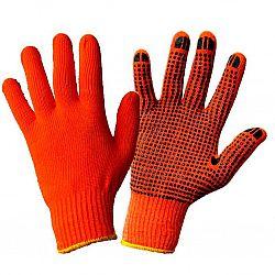 Рукавички трикотажные оранжевые