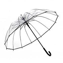 F310 Женский зонт Star Rain полуавтомат.16 спиц ПРОЗРАЧНЫЙ