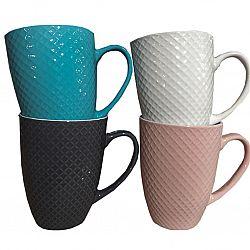 Чашка фарфор 500мл Цветное плетение Vittora