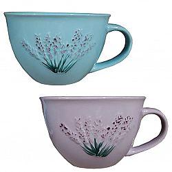 Чашка фарфор 470мл Лаванда Vittora