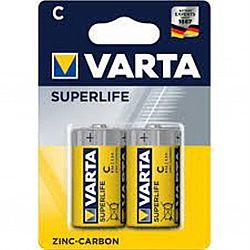 Батарейка VARTA SUPERLIFE R14 солевые 2шт блистер