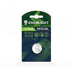 Батарейка ENERLIGHT LITHIUM CR 1616 солевые 1шт блистер
