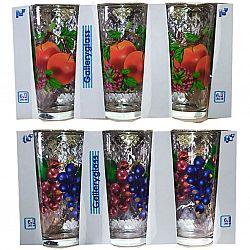 Набор стаканов 6шт*200мл Фруктовый коктейль