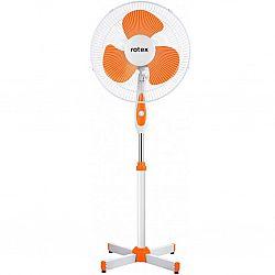 Вентилятор напольный ROTEX RAF 40-E бело-оранжевый 3 скорости 40Вт 2шт/ящ