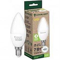 Лампа светодиодная ENERLIGHT С37 7Вт 4100К Е14,гарантия 2 года
