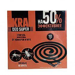 """""""КРА DEO SUPER"""" Спирали от комаров и мух 10шт"""