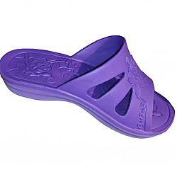 Шлепки женские РОЗА (р. с36 по 41) фиолетовые по 6шт в уп.