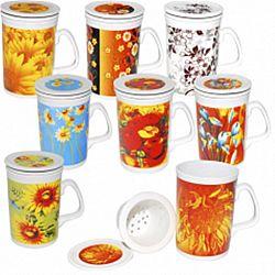 """Чашка керамика заварочная """"Цветы"""" 320мл"""