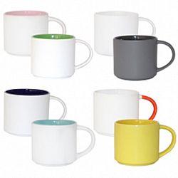Чашка керамика цветная однотонная 500мл
