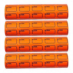 Ценник маленький c рамкой 3*2см Оранжевый 100шт (5шт)