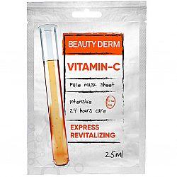 Тканинна маска для обличчя Інтенсивна Вітамін С ТМ BeautyDerm, 25мл