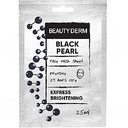 Тканинна маска для обличчя Інтенсивна Чорна перлина ТМ BeautyDerm, 25мл