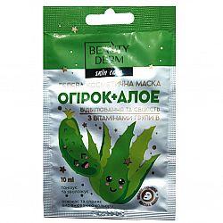 Гелева косметична маска з огірком, алое та комплексом вітамінів групи В від ТМ BEAUTYDERM
