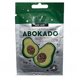 Гелева косметична маска з авокадо та вітаміном Е від ТМ BEAUTYDERM