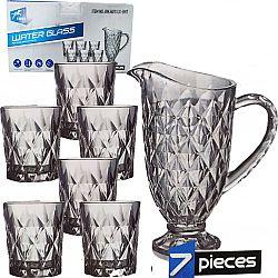 Набор/вода Сrystal Rose 7пр(6 стаканов*250мл+кувшин 1,7л)
