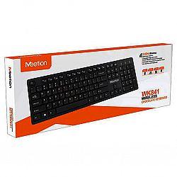 Компьютерная клавиатура беспроводная черная RU Ukr EN WK 841