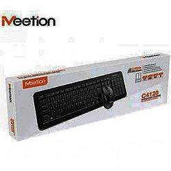 USB комбо беспроводная клавиатура и мышка RU Ukr EN черная С4120