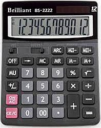 Калькулятор настольный BRILLIANT BS-2222 12 разрядов 15*19.3*2.9см