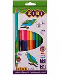 Карандаш дерево 12/24 цвета ZIBI KIDS LINE в коробке