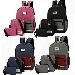 903 Рюкзак универсальный 3 в 1 розовый