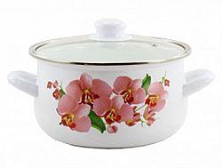 1W Кастрюля эмалированная 3,0л Zauberg Орхидея розовая