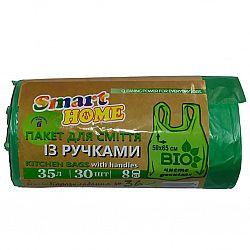 Мус. пакет с ручками 35*30 БИО Smart Pro 1шт