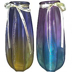 """Ваза цветное стекло Сrystal """"Alhita"""" 26,5см в подарочной упаковке"""