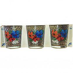 Набор стаканов 6шт*250мл Цветы микс