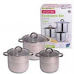 5805 Набор посуды 8пр (кастрюли 5л+6,5л+8л)