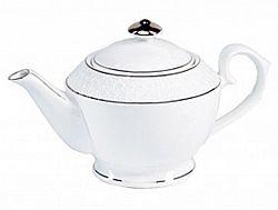 405316-А Чайник заварочный круглый фарфор 1100мл в упаковке Снежная королева