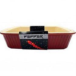 Форма для выпечки прямоугольная керамика PEPPER 28,5*14,5*8,5см
