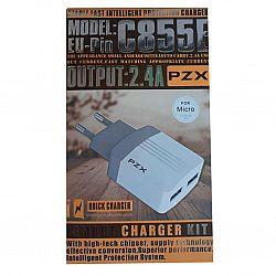 Зарядный блок PZX к телефону 2 в 1(зарядка+USB шнур)