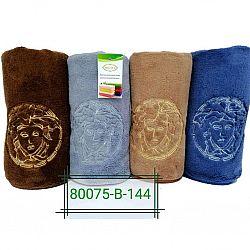 В-80075 Полотенце Лицо Микрофибра 0,50*1 (цена за 8шт) (4 цвета)
