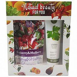 Подарочный набор №72 ( Сливки для снятия макияжа 100мл, Крем-гель для душа Клюква, шелковица с овсян