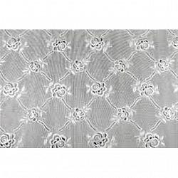 Клеенка на стол ажурная серебро односторонняя прямоугольная 30*40см