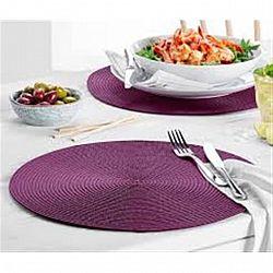 Подставка на стол (плетеная) овальная двухсторонняя 30*50см микс цветов