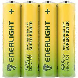 Батарейка ENERLIGHT SUPER POWER R3 солевые 4шт  п/у ТОР