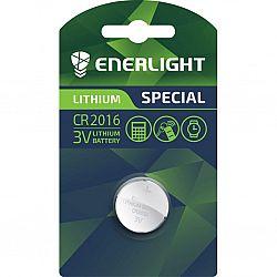 Батарейка ENERLIGHT LITHIUM CR 2016 солевые 1шт блистер