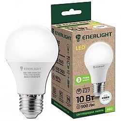Лампа светодиодная ENERLIGHT A60 10Вт 4100К  Е27,гарантия 3года ТОР