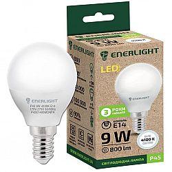Лампа светодиодная ENERLIGHT Р45 9Вт 4100К Е14,гарантия 3 года