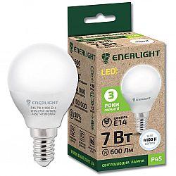 Лампа светодиодная ENERLIGHT Р45 7Вт 4100К Е14,гарантия 3 года