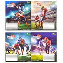 Тетр учен В5 48 лист.клетка офс American football 2964 16шт