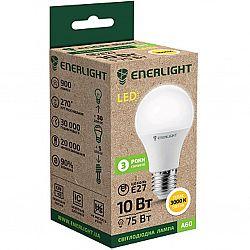 Лампа светодиодная ENERLIGHT A60 10Вт 3000К  Е27,гарантия 3года